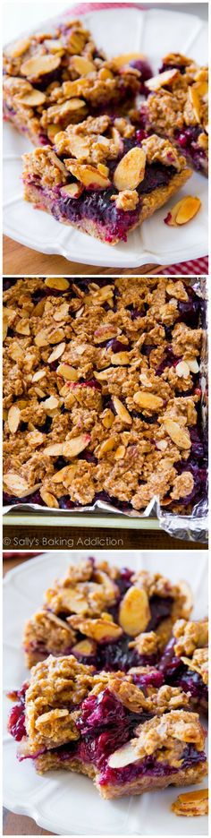 Healthy Mixed Berry Streusel Bars... clean eats that actually taste good! #glutenfree