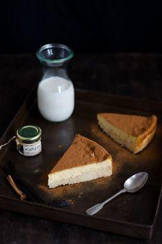 Rice and custard tart