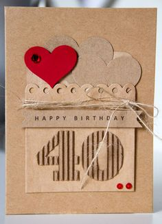 tone in tone B-day Card by Cindy Liebel