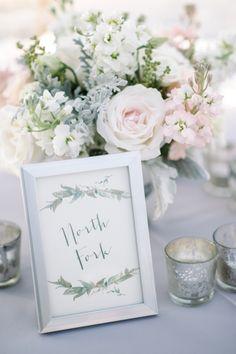 Pretty Handdrawn Table Names | photography by http://www.seanmoney-elizabethfay.com