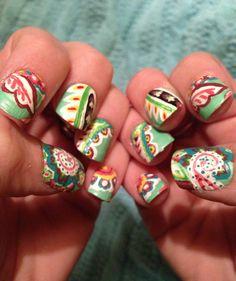 Vera Bradley nails In Tutti Fruity- nail art by Leeann McMichael
