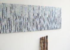 Felt painting `blue blue bamboo`