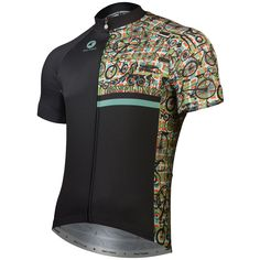 Cyclo PIsta Cycling Jersey by Gregory Klein | Artist-Inspired Cycling Apparel | Pactimo > Pactimo Design Example