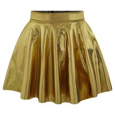Gold Plain Liquid Stylish Ladies Pleated Skirt ($13) ❤ liked on Polyvore featuring skirts, gold, gold pleated skirt, pleated skirt, gold skirt, knee length pleated skirt and brown pleated skirt