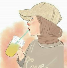 Starbucks hijab girl Digital art Source by Cartoon Kunst, Cartoon Art, Tattoos Anime, Cat Anime, Poses Anime, Hijab Drawing, Drawing Art, Drawing Ideas, Anime Amor