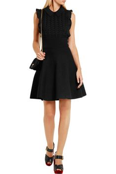 Prada - Ruffled Wool And Cotton-blend Mini Dress - SALE20 at Checkout for an extra 20% off