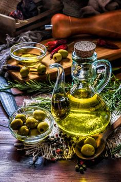 View top-quality stock photos of Olive Oil Bottle With Olives Arrange On Table In Old Fashioned Rustic Kitchen. Find premium, high-resolution stock photography at Getty Images. Olive Oil Bottles, Cooking Oil, Rustic Kitchen, Street Food, Food Styling, Whisky, Provence, Farmer, Food Photography