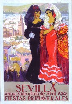 By Francisco Hohenleiter de Castro, 1941,   Spring Festival Sevilla.