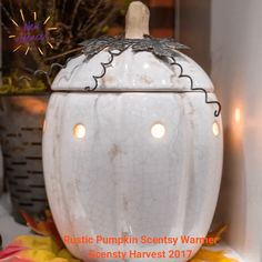 Rustic Pumpkin Scentsy Warmer   Scentsy Harvest 2017 Collection, On Sale September 1, 2017 while supplies last