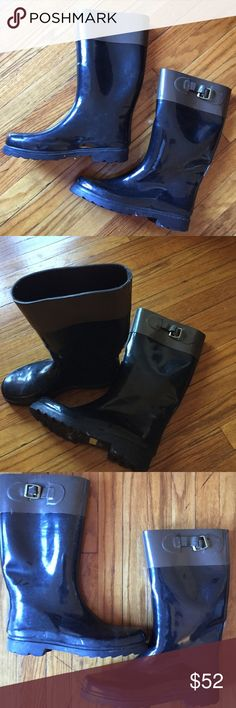 Cute Cooell Rain Boots!! Chic Copelli New York Rainboots. Great Shape, TaupeBrown &Black Color!! Other
