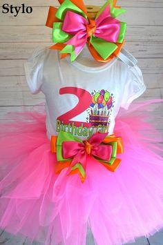 Birthday Tutu Set order or follow us on Facebook ; www.facebook.com/... #birthday #pinktutu #second #styloboutique