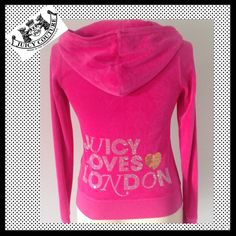 "Hpjuicy Couture """"Juicy Loves London"""" Velour"