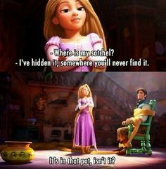 Funny Disney Memes, Disney Jokes, Disney Facts, Funny Memes, It's Funny, Disney Tangled, Disney Magic, Tangled Flynn, Tangled 2010