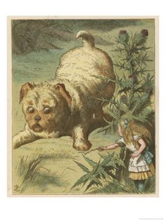 Dash The Puppy by Sir John Tenniel Art Print on Canvas Magnolia Box Size: Extra Large John Tenniel, Canvas Art Prints, Framed Art Prints, Painting Prints, Alice In Wonderland 1, Adventures In Wonderland, Lewis Carroll, Pin Up, Art For Art Sake