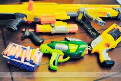 """""""Nerf War"""" Date - SO fun!  This would also be fun for the whole family!  :)  #creativedateideas #FHE @The Dating Divas"""