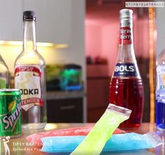 Spiked Ice Pops - For more delicious recipes and drinks, visit us here: www.tipsybartender.com