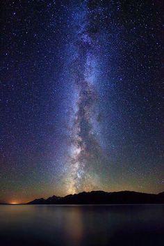 Milky Way over Teton Range and Jackson Lake Image credit: IronRodArt - Royce Bair (NightScapes on Thursdays) Exposure Photography, Night Photography, Cosmos, Milky Way Stars, Byron Katie, Light Pollution, Grand Teton National Park, National Parks, Night Photos