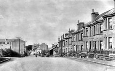 Old photograph looking towards Clarkston Toll from the south long before the shops. Old Photographs, Family History, Glasgow, Past, Scotland, Shops, Street View, University, Outdoor
