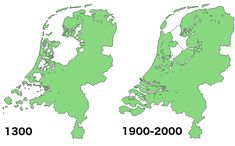 'God created the world, but the Dutch created The Netherlands' (Land reclamation in The Netherlands) (Europe, Netherlands) World Map Europe, Europe Eu, Holland Map, Dutch Netherlands, World Geography, Alternate History, Historical Maps, Landing, Around The Worlds