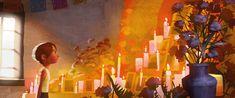 Artes de Shelly Wan para o filme Coco da Disney/Pixar Art Ideas For Teens, Art Projects For Teens, Cool Art Projects, Pixar Concept Art, Disney Concept Art, Disney Pixar, Disney Films, Storyboard, Color Script