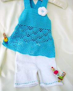 Crochet baby set crochet baby top  knitted by Svetlanababyknitting