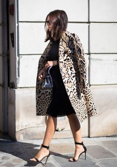 Miroslava Duma fall+2014 collection inspiration leopard print trench+coat street+style miroslava+duma home