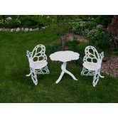 Found it at Wayfair - Butterfly 3 Piece Bistro Set - Would love to sit in this and feel my dad all around me.