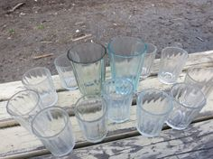 Vintage faceted glass Russian table-glass Soviet glasses Soviet Faceted Glass Set of 10 Soviet Drinking Glass 150 ml,1970-s