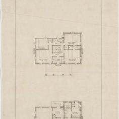 Front elevation, floor plans Charles W Tillett House