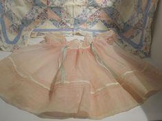 "Factory Original Effanbee DYDEE DY-DEE Organdy Dress and Bonnet to Fit 20"" doll"