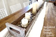 Diy Barnwood Table Trough