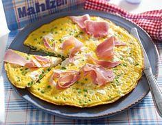 Feta-Omelett mit Erbsen