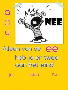 School Hacks, School Projects, Learn Dutch, Spelling And Grammar, Kids Behavior, Flipped Classroom, Teaching Reading, Speech And Language, Kids Learning