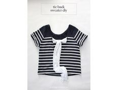 Tutorial: Tie back sweater refashion | Sewing | CraftGossip | Bloglovin
