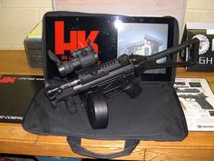 MP5 with duals Loading that magazine is a pain! Excellent loader available for the Uzi Get your Magazine speedloader today! http://www.amazon.com/shops/raeind