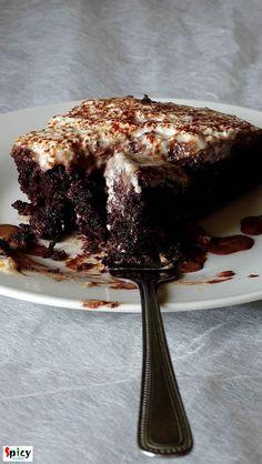 Chocolate Tres Leches Cake / 3 Milk Chocolate Cake (Eggless)