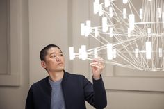 Arihiro Miyake, the designer behind Moooi's Coppélia chandelier, is a Japanese product and interior designer who lives and works in Helsinki. Learn more about Miyake and his lighting designs at LightForm.ca