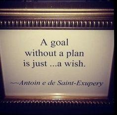 計画性のない目標は、ただの願い事だ。