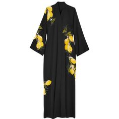 Dolce & Gabbana Printed silk-blend maxi dress (123.275 RUB) ❤ liked on Polyvore featuring dresses, black, dolman sleeve dress, lightweight dresses, maxi length dresses, dolman sleeve maxi dress and light weight dresses