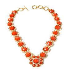 Give a pop of color to any outfit with our gorgeous, but super classy Crystal Jitney Necklace!