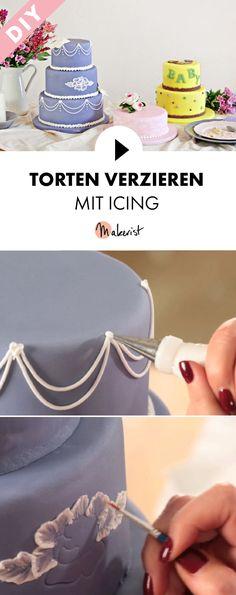 Torten verzieren mit Icing oder Zuckerglasur für Hochzeiten - Schritt für Schritt erklärt im Video-Kurs via Makerist.de