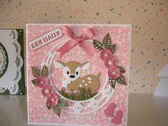 Voorbeeldkaart - een baby - Categorie: Scrapkaarten - Hobbyjournaal uw hobby… Bambi, Marianne Design Cards, Pretty Cards, Baby Cards, Children, Kids, Die Cutting, Stamp, Paper Crafts