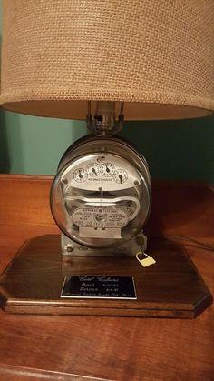 Vintage Westinghouse Electric Meter Table Lamp Re-purposed ...