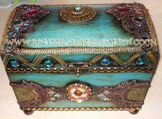 Apostila de pintura Decorativa Rose Menezes: BAU SHERAZADE AZUL