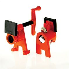 """4 Pack 1//2/"""" Wood Gluing Pipe Clamp Set Heavy Duty PRO Woodworking Cast Iron"""
