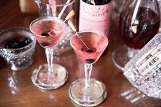 Pink Manhattan cocktail via 7X7