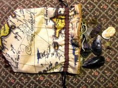 Etsy is awesome, this is a Pirate Treasure Map Beaded Drawstring Purse