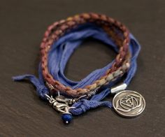 Third Eye Chakra Multi Warrior Wrap with faceted by alccreations, $121.00