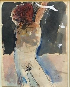 Nathan Oliveira, Figure with arm over head - 1960 on ArtStack #nathan-oliveira #art