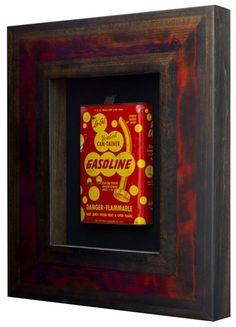 Red Gas Can Original Art   Shadowbox Art
